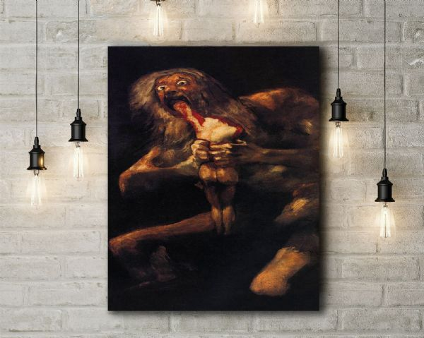 Francisco de Goya: Saturn Devouring His Son. Fine Art Canvas.